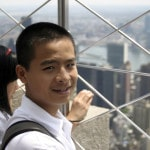 Middle school student on top the Empire State Building