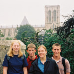 2003 high school students with York Minster in the background